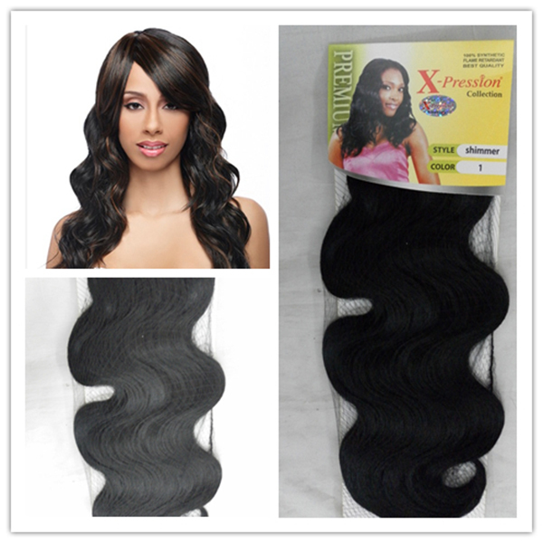Shimmer Xpression Weaving Synthetic Hair Extension Nula Multi